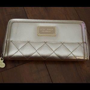 Betsey Johnson Gold Metallic  Wallet